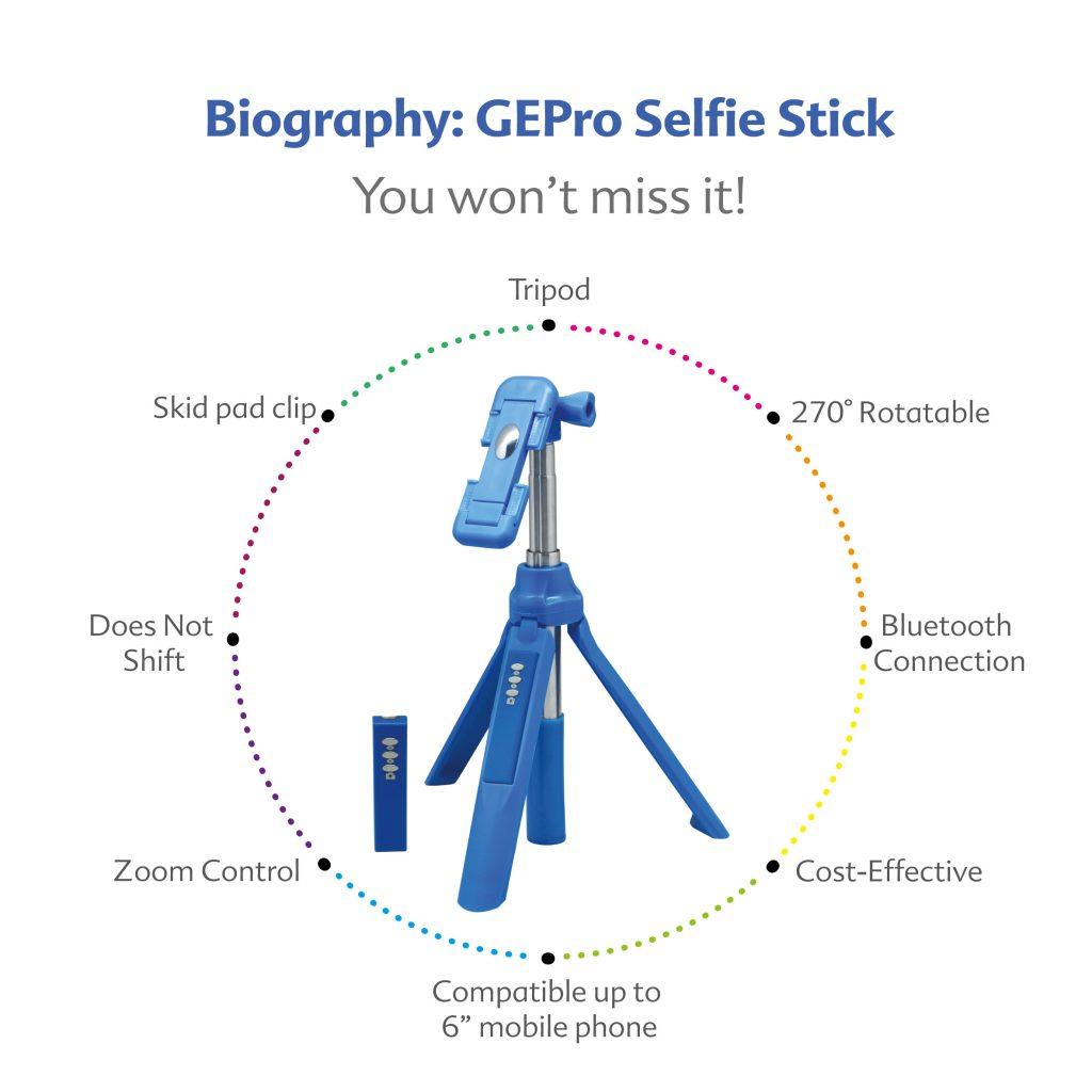 Bluetooth Selfie Stick with Tripod